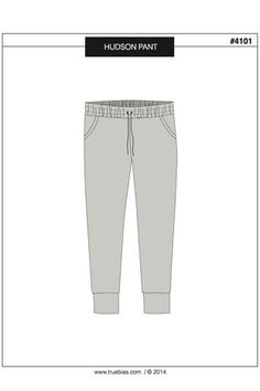 """Tapered """"jogging"""" pant, in two lengths. Sew in chambray, olive jersey, and a floral! (by True Bias)"""