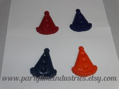 2 Party Hats Shaped Crayons by PartyTimeIndustries on Etsy