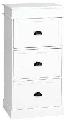 3-laatikkoinen lipasto ODENSE valkoinen | JYSK