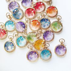 in 2020 in 2020 Cute Jewelry, Modern Jewelry, Bling Jewelry, Resin Pendant, Pendant Earrings, Diy Resin Casting, Polymer Clay Kawaii, Diy Resin Crafts, Magical Jewelry