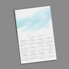 11x17 Wall Calendar - Watercolor
