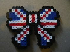 Union Flag Hama Bead Bow