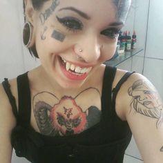 Marjorie Aleister Face Tattoos