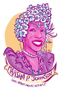 #100days100Women Day 42: Marsha Pay-it-no-mind Johnson LGBT activist, co-founder of STAR, drag queen, performer, and very important shotglass thrower:    https://en.wikipedia.org/wiki/Marsha_P._Johnson Documentary with her last interview is here (CW: NSFW, assault and other topics discussed): https://www.colorlines.com/articles/learn-about-life-trans-activist-and-actress-marsha-p-johnson