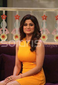 Shamita Shetty Looking Sexy in Short Yellow Skirt