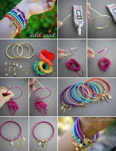 DIY Wrap Bangles Bracelet Pictures, Photos, and Images for Facebook, Tumblr, Pinterest, and Twitter