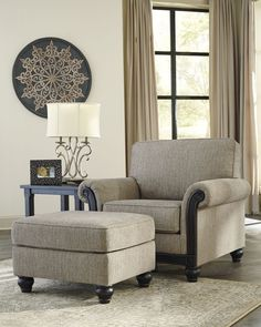 Blackwood Traditional Taupe Fabric Chair