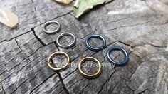 $19.99 Rose Gold Segment Ring Septum Clicker Titanium 14g by MysticBodyJewelry