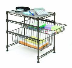 Stackable Kitchen Cabinet Organizer Cookware Storage Sliding Basket Shelf Holder
