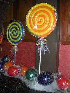 15 Creative Ways to Use Balloons - Lollipop Balloons & Balloon Candy | Candy Party Theme {Balloon Bouquets of Long Island} - mazelmoments.com
