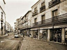 León, fotos antiguas, calle ancha.