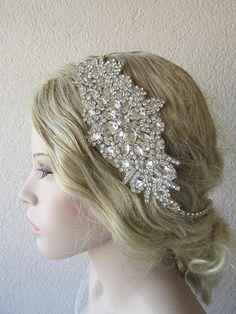 Crystal Headpiece Bridal Headband  Wedding Headband Bridal Fascia Di  Strass 2bb580aca583