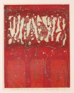 Hiroyuki Tajima (Japanese 1911 - 1984) - Red Work E, 1979, Color woodblock print