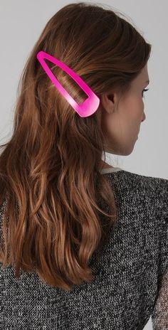 jumbo neon hair pin. Talk about a conversation-starter