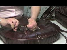 How To Make Leather Chair Cushions - YouTube