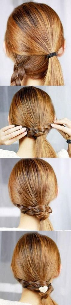 Classic and sweet hairstyle ideas for long hair - Beauty und Haare - Frisuren Summer Hairstyles, Trendy Hairstyles, Braided Hairstyles, Braided Ponytail, Braid Hair, Creative Hairstyles, Fancy Ponytail, Wedding Hairstyles, Bun Braid