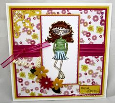 Meet Shirley - created from the Fashionettes range from Bee Crafty
