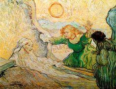Vincent Van Gogh - Post Impressionism - Saint REMY - La résurrection de Lazare, selon Rembrandt - 1990  Be Sure To Visit:  http://universalthroughput.imobileappsys.com/