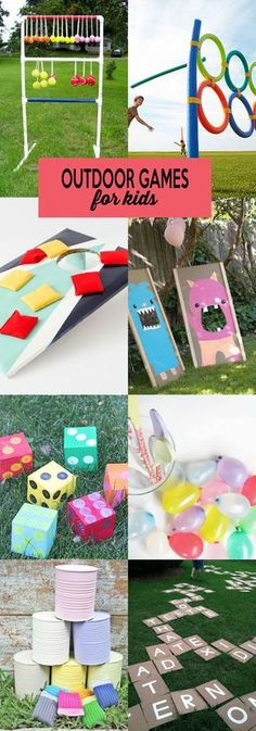 Enjoy those last days of summer with these fun outdoor games for kids!