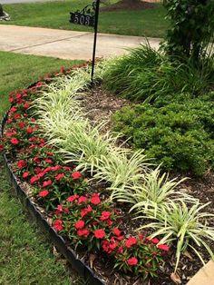 Front Yard Garden Design, Front Garden Landscape, Small Front Yard Landscaping, Garden Yard Ideas, Tropical Landscaping, Outdoor Landscaping, Garden Projects, Outdoor Gardens, Garden Inspiration
