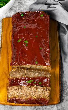 Vegan Lentil Loaf - Healthier Steps Gluten Free Vegetarian Recipes, Vegetarian Main Dishes, Vegan Dishes, Vegan Gluten Free, Meatless Recipes, Vegan Meals, Healthy Recipes, Lentil Recipes, Veggie Recipes