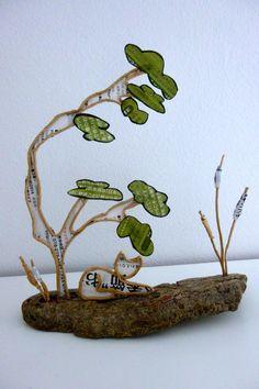 Chat japonais - figurine en ficelle et papier : Accessoires de maison par ficelleetpapier