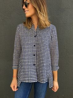 Helga Shirt  – This oversized shirt is a winning combination of loose, comfortable and ...