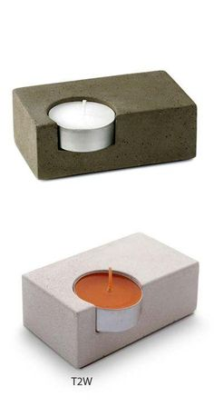 Single Concrete Tea-Light Candleholder