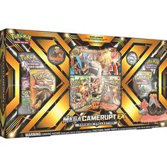 Pokemon TCG Mega Camerupt EX Premium Collection Sealed Box   2 Random Boosters         *** Click on the image for additional details. (This is an affiliate link) #SportsCollectibles Pokemon Sammelkarten, All Pokemon Cards, First Pokemon, Pokemon Trading Card, Trading Cards, Mega Evolution Pokemon, Papercraft Pokemon, Charizard, Cool Items