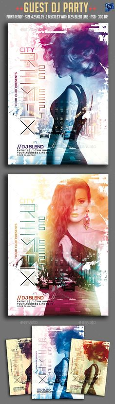 Guest Dj Party Flyer Template PSD #design Download: http://graphicriver.net/item/guest-dj-party-flyer/12772590?ref=ksioks