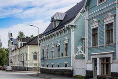 Arquitectura popular de tiempos ya pasados. Oulu, Finlandia.