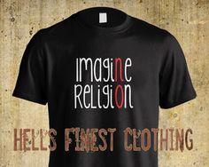 T-Shirt Imagine No Religion Atheist Freethinker Anti-Religion