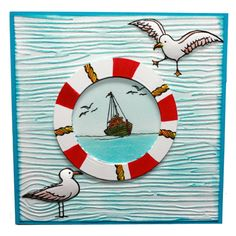 """This card was made by Jenny Mayes using the new """"Summer Holiday"""" stamp set designed by Sharon Bennett for Hobby Art Stamps."""