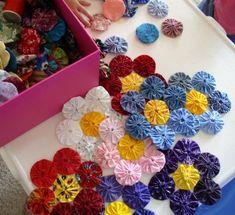 Flower pattern YOYO QUILT