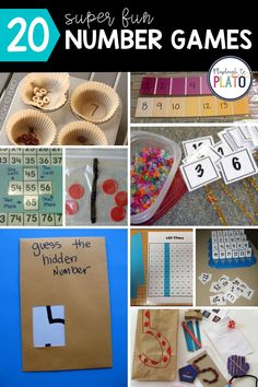 "This list of 20 ""why didn't I think of that?!"" number games include some of our favorite finds from across the web. These number games are hands-on and they make a great addition to your kindergarten teaching activities to help your kids learn how to read, write and understand numbers! #learningactivities #kindergarten #preschool #preschoolactivities #kindergartenactivities Teaching Kindergarten, Kindergarten Activities, Number Games For Kids, 100 Chart, Learn To Read, Pre School, Kids Learning, Numbers, Pre K"