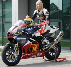 Samuela de Nardi - Aprilia test rider & racer. Gotta' love sportbike babes!