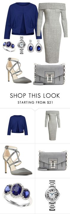 """""""💎💎💎"""" by queen-naznaz ❤ liked on Polyvore featuring Sans Souci, Nine West, Proenza Schouler, Effy Jewelry and Cartier"""