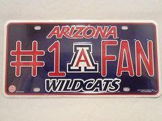 Arizona Wildcats Fan Aluminum License Plate NEW! Bear Down License Plates For Sale, Arizona Wildcats, Bear, Products, Bears, Gadget