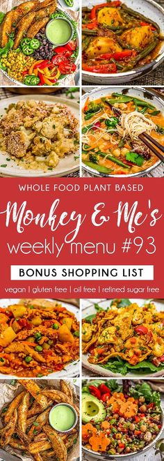 recipes plant based Monkey and Me's Menu 31 Monkey and Me's Menu 31 features delicious, wholesome recipes! All are Whole Food Plant Based Diet, vegan, oil free, refined sugar free & gluten free. Healthy Sauces, Healthy Vegan Snacks, Healthy Dessert Recipes, Whole Food Recipes, Vegan Recipes, Healthy Appetizers, Lunch Recipes, Vegetarian Protein, Side Recipes