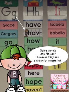 "Put word wall words in ""jail!"" (Blog Post from Creating Readers and Writers) #wordwall"