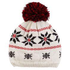 41b6f39f136 Baby Girl Carter s Pom-Pom Fairisle Knit Beanie Hat