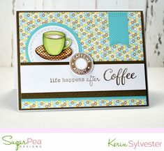 Wishing You a Day Filled with Joy Caffeine Addiction, Clear Stamps, Making Cards, Paper Crafts, Crafty, Sketch, Frame, Instagram Posts, Projects