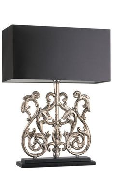 Designer Antiqued Silver Leaf Baroque Lamp, sharing luxury designer home decor inspirations and ideas for beautiful living rooms, dinning rooms, bedrooms & bathrooms inc furniture, chandeliers, table lamps, mirrors, art, vases, trays, pillows & accessories courtesy of InStyle Decor Beverly Hills enjoy & happy pinning