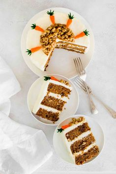 This Vegan Carrot Cake is incredibly moist and super easy to make. Topped with a creamy vegan cream cheese frosting that can't be more addictive.  #simplegreenrecipes #healthycarrotcake #bestvegancake #simplevegancarrotcake #simplecarrotcake #foodstyling #foodphotography