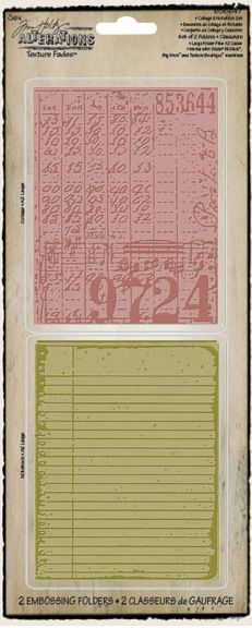 Sizzix Texture Fades A2 Embossing Folders 2//Pkg-Distressed Frame /& Postal By Tim Holtz