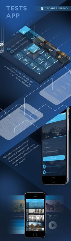 Tests App on Behance