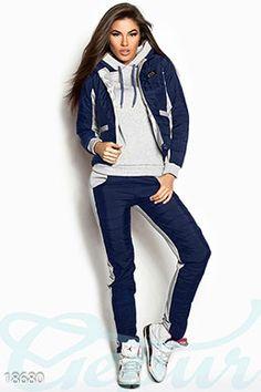 Gepur | Модный спортивный костюм арт. 16106 а от производителя, достоверные описание, отзывы, фото , цвет: , цвет: серый, синий