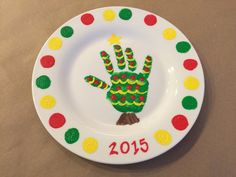 ***$5 each for 2 or more . (ie: $15 for two, $20 for 3, and so on), contact me at maria@customizeyourcreations.com for a coupon code BEFORE ordering***  Deck the halls! Create lasting memories with this Hand Print Kit. This kit includes the materials and instructions needed to create your very own plate. Once cured, this plate is completely dishwasher and microwave safe! The kids will love crafting this special, personal masterpiece.  Kit Includes: Plate, Paint, Brush, and Instructions