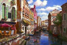 SAM PARK ARTIST | Venice Scenes by Artist Sam Park