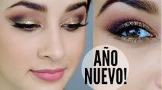 maquillaje vestido dorado - YouTube